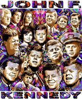 john F. Kennedy Tribute T-shirt Or Print By Ed Seeman