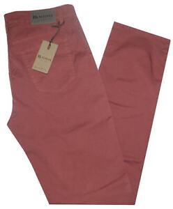 Pantalone-uomo-jeans-HOLIDAY-46-48-50-52-54-56-58-60-cotone-estivo-corallo-ETAN
