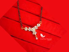 ME32, Daphne Flora Golden Zircon Studded Mangalsutra, Featuring Bollywood Sin...