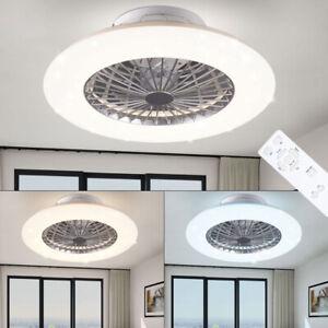 LEISER-LED-Decken-Ventilator-FERNBEDIENUNG-Sternenhimmel-Tageslicht-DIMMER-Lampe