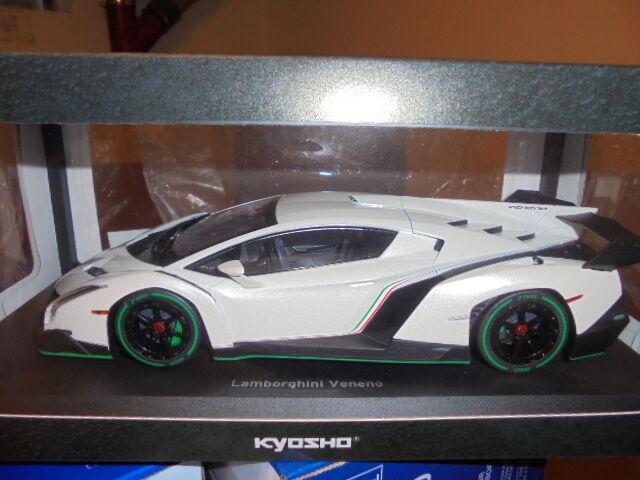Kyosho 09501wg LAMBORGHINI VENENO Blanc Metallic - 1 18  neu dans neuf dans sa boîte