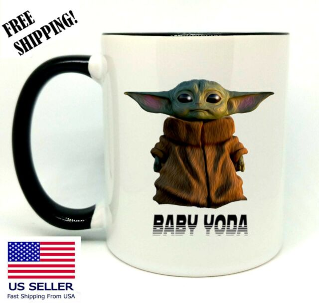 Baby Yoda, Star Wars, Birthday, Christmas Gift, Black Mug 11 oz, Coffee/Tea