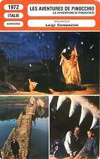 Fiche Cinéma. Movie Card. Les aventures de Pinocchio (Italie) 1972