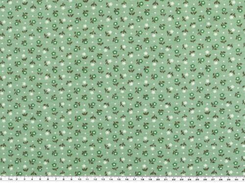 minze kleine Blumen 150cm Baumwoll-Jersey Druck