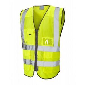 Hi Coolviz Leo 2 Class Vis Waistcoat Yellow Workwear Cobbaton BXqwOF