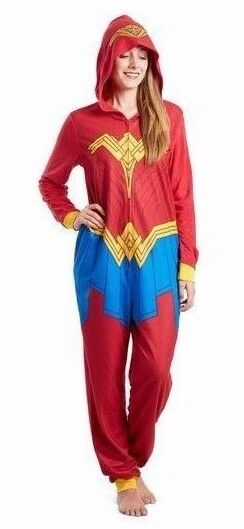 Wonder Woman 1 Piece Jumpsuit W Hood-Outstanding for Sleep or Casual Wear