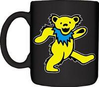 Mugs Grateful Dead Yellow Dancing Bear Designed Mug, 12-ounce, Black, New, Free