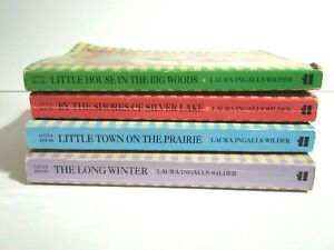 Lot Of 4 Little House On The Prairie Paperback Books Laura Ingalls Wilder