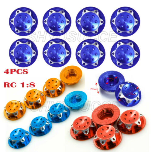 4Pcs//set RC Buggy 17mm Wheel Rim Lock Nuts Adapter For 1//8 RC Off-Road Truck Car