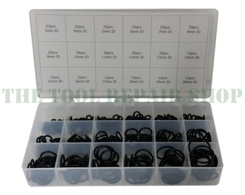 350 O-Rings 3mm to 20mm ID OSK™ O-Ring Kit 2mm Cross Section 18 Sizes