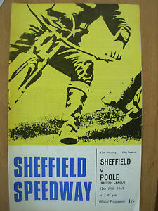 SHEFFIELD-v-POOLE-12th-JUNE-1969-SPEEDWAY-PROGRAMME-BRITISH-LEAGUE