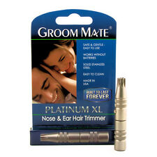 Groom Mate Platinum XL Nose & Ear Hair Trimmer - USA Made & Lifetime Warranty !!