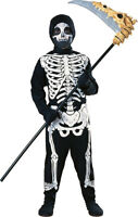 Kids Skeleton Costume Bones Spooky Halloween Size Medium 8-10