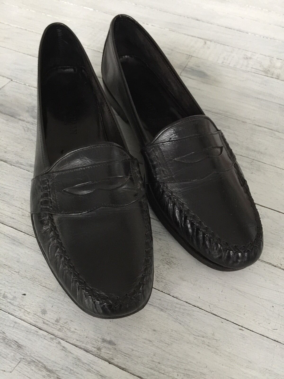 Men's Cole Loafer Haan Black Leather Penny Loafer Cole Style Size 9 1/2 Narrow cbd8b8