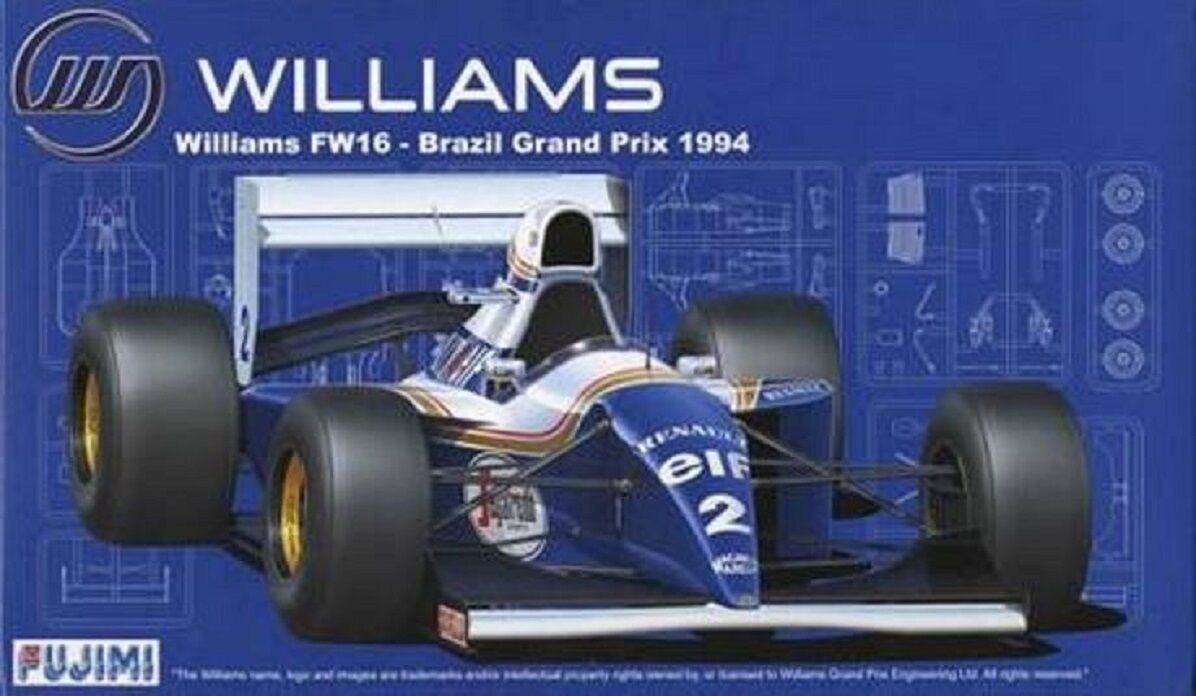 Fujimi  Williams fw16 GP BRAZIL 1994 Scale 1 20 cod.09059  jusqu'à 65% de réduction