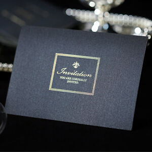Luxury wedding invitations navy blue n gold cards free for Ebay navy wedding invitations