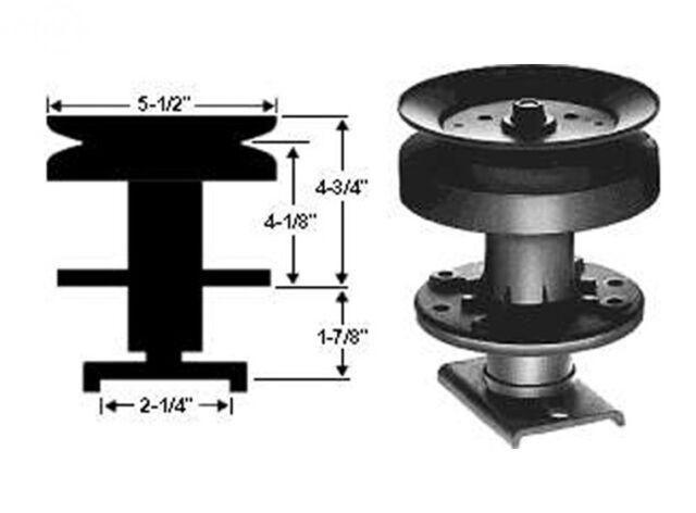 Deck Spindle Assembly Husqvarna 38 Inch Deck 105891X 121676X 121687X 532121676