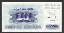 BOSNIA  1000000 (1 Million)  DINARA 10.XI.1993   P 35b   Uncirculated