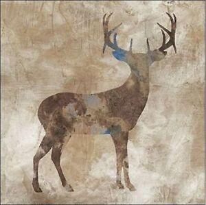 stephane fontaine oh deer i keilrahmen bild leinwand hirsch geweih wild modern ebay. Black Bedroom Furniture Sets. Home Design Ideas