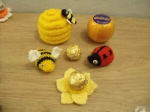 Knitting Pattern  Ladybird chocolate orange cover or Bath Bomb cover