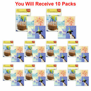 Image Is Loading 10 Pack Hallmark Assorted Happy Birthday Card Greeting