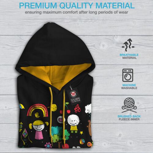 Felpa Black con contrasto Colorful cappuccio cappuccio per colorata uomo oro a Ar4A8
