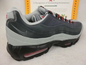 Details about Nike Air Max 95 Essential, Silver Cool Grey University Red, 749766 006, Sz 8