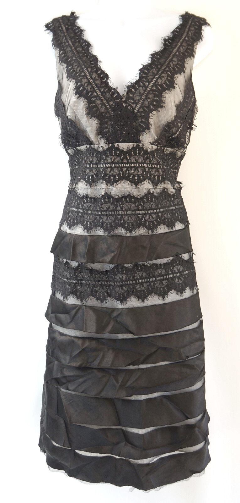 K.Jordan Schwarz Ärmellos Zum Schnüren Enganliegendes Kleid Damen 12 Groß