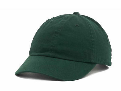 100/% COTTON FOREST GREEN Color Blank Plain Baseball Cap Hat Adjustable Washed
