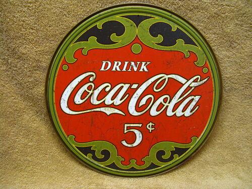 Coke Coca Cola Tin Metal Sign Vintage Look Distressed Look Pop Soda Kitchen
