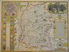 OLD COPY OF JOHN SPEED MAP OF WILSHIRE WILTSHIRE STONE HENGE SALISBURY TOWN PLAN