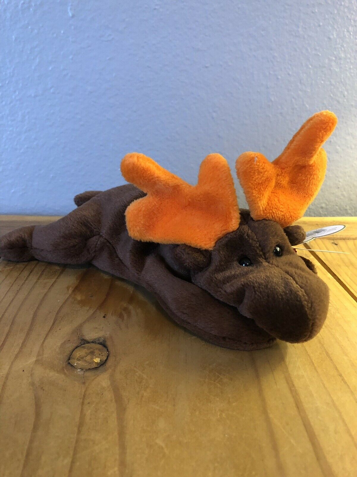 Ty Beanie Babies Original Retired 1993 Chocolate the Moose PVC Pellets
