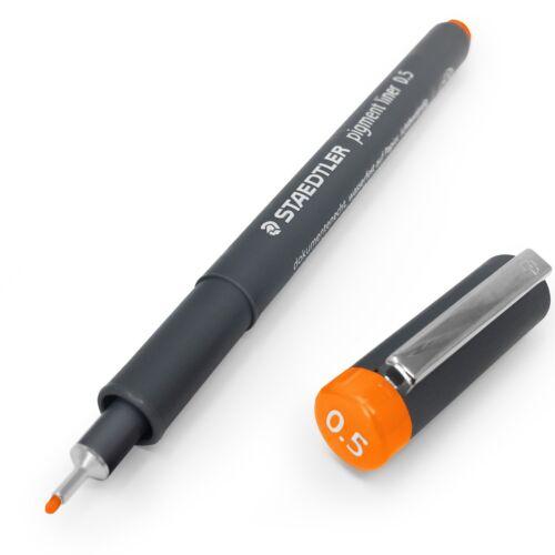 Orange Single 0.5mm Staedtler 308 Pigment Liner Fineliner
