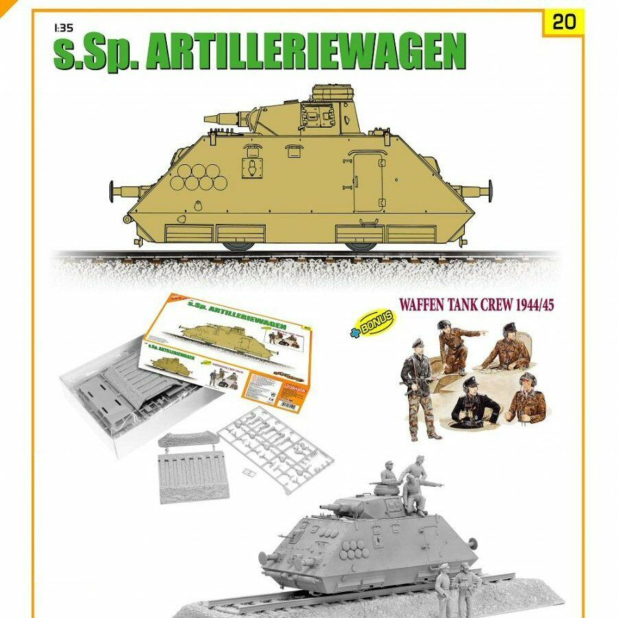 Cyber Hobby 9120 sSp Artilleriewagen with Waffen Tank Crew 1 35 scale model
