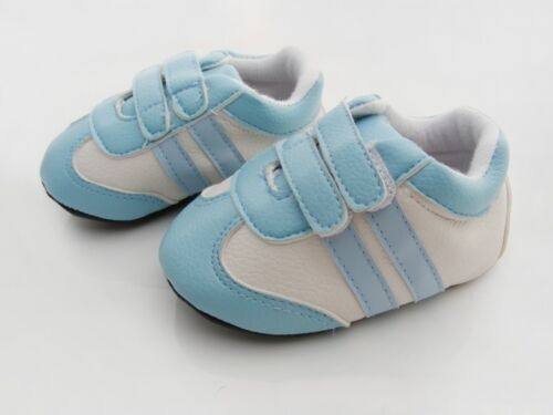 NEW Baby Boy Boutique Double Bar Sneaker Shoes 6-12m Size 3//4 *Blue*