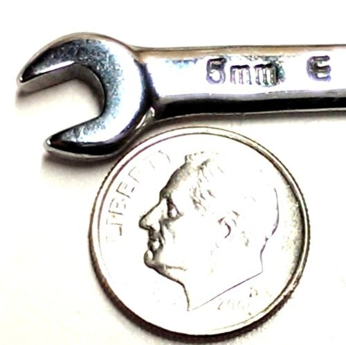 EASCO Tools 5mm x 5.5mm Midget Combo wrench Chrome 66411 *Made In The USA*