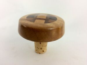 Details About Hawaiian Decorative Wine Cork Bottle Stopper Hand Pieced With Multi Exotic Wood