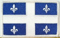 Quebec Flag Patch With Velcro® Brand Fastener Military Tactical White Emblem 8