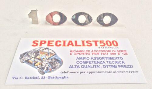 SCRITTA A PEZZI SINGOLI PER ABARTH OT 1000 FIAT 600-850