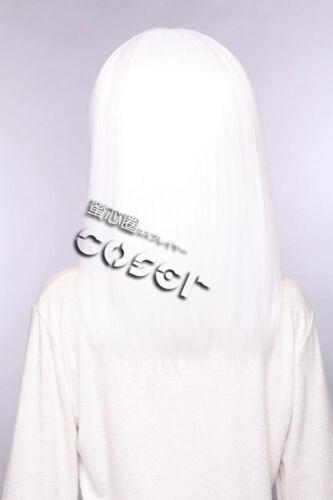 W-02-1001 BIANCO WHITE 40cm Cosplay Parrucca Wig Perruque capelli ANIME MANGA liscia