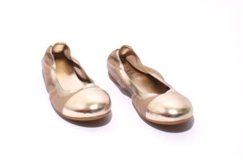 5207a Ballet 6 Mally Leather Beige Soft Comfortable Us Gold Flats 36 1FdYfq