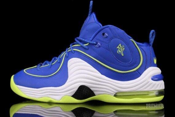 2012 Nike Air Penny 2 ii LE Blue/Volt Sprite Size 11. 535600-431. foamposite