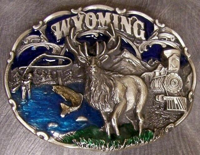 Pewter Belt Buckle State of South Carolina colored NEW