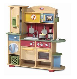 Cocina-Juguete-de-madera-juego-nina-forno-estufa-lavavajillas-con-temporizador