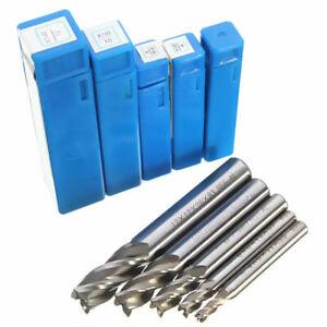 HSS 4 Flute Straight Shank End Mill CNC Cutter Drill Bit 4//6//8//10//12mm Set
