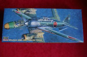 MAQUETA-AVION-Mitsubishi-A6M3-ZERO-FIGHTER-TYPE-22-HASEGAWA-AP15-1-72