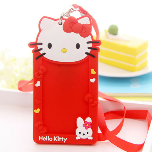 Silicone ID Card Holder Card Case Identity Badge Necklace Neck Strap Lanyard