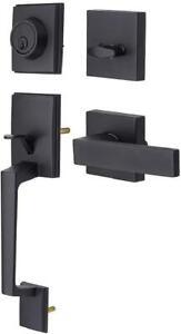 Black-Front-Door-Handle-Set-Single-Cylinder-HandleSet-with-Lever-Door-Handle