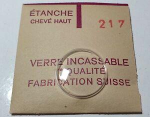 Verre-de-montre-suisse-bombe-plexi-diametre-217-Watch-crystal-vintage-NOS