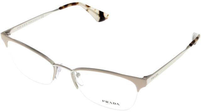 PRADA Prescription Eyewear Frames Womens Beige Semi Rimless Pr65qv ...